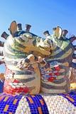Baisers de la fontaine de zèbres par le sculpteur Constantin Skretutsky à l'allée de Pejzazhna Photos libres de droits