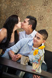 Baisers de parents Image libre de droits