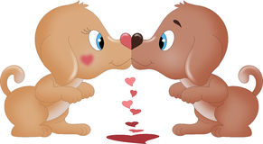 Baisers des chiens de valentines illustration de vecteur