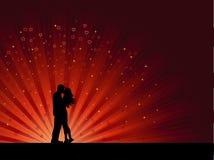 Baisers des couples illustration stock