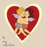 Baisers des couples des anges Illustration de Vecteur
