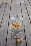 Baisers du ` s de Madame - biscuits italiens de sandwich à noisette Images libres de droits