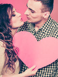 Baisers romantiques de couples Concept d'amour Photos libres de droits