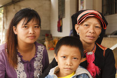 Portrait of a Yao family Stock Image