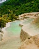 Baishutai wody tarasy Fotografia Royalty Free