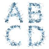 Baisse ABCD de l'eau d'alphabet Photographie stock