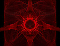 Baisse abstraite de sang Photographie stock