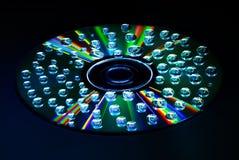 Baisse CD de l'eau de musique image libre de droits