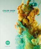 Baisse de couleur Photographie stock libre de droits