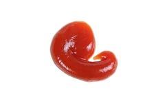 Baisse de ketchup d'isolement Image stock