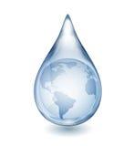 Baisse de l'eau avec le globe illustration stock