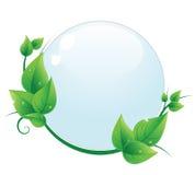Baisse de l'eau avec les lames vertes illustration de vecteur