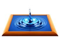 Baisse de l'eau dans la trame en bois Photo stock