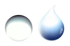Baisse de l'eau de vecteur Photos libres de droits