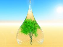 Baisse de l'eau pendant la vie illustration de vecteur