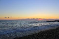 Baisse de mer à Sotchi Image stock