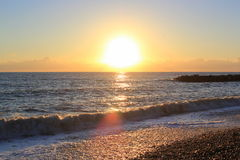 Baisse de mer à Sotchi Image libre de droits
