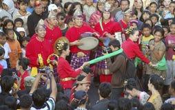 BAISSE DE VISITE DE TOURISME DE L'INDONÉSIE Image libre de droits