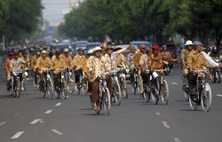 BAISSE DE VISITE DE TOURISME DE L'INDONÉSIE Photo libre de droits