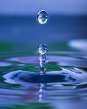 Baisse gelée de l'eau Photos libres de droits