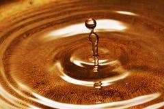 Baisse gelée de l'eau Photo stock