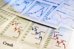 Baisse i aktiemarknaden Arkivbild
