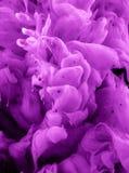 Baisse liquide de couleur sur le fond noir images stock