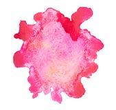 Baisse rouge tirée par la main d'aquarelle abstraite d'aquarelle Photos stock