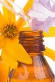 Baisse tombant du compte-gouttes d'huile essentielle photographie stock libre de droits