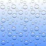 Baisse transparente de l'eau Photographie stock