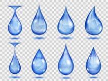 Baisses bleues transparentes illustration de vecteur
