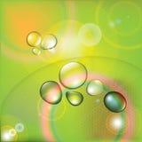 Baisses colorées de l'eau Photographie stock