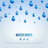 Baisses de bleu de l'eau Illustration de vecteur illustration stock