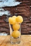 Baisses de jaunes d'oeuf d'or Image libre de droits