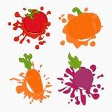 Baisses de jus de Vegetebles Photographie stock