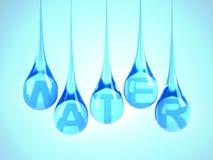 Baisses de l'eau Photographie stock libre de droits