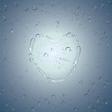 Baisses de l'eau de coeur. Vecteur Image libre de droits