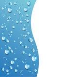 Baisses de l'eau de vecteur sur le fond bleu En particulier calibre 10 Photographie stock