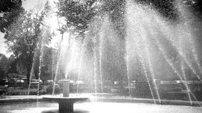 Baisses de l'eau sur l'air images libres de droits