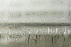 Baisses de l'eau sur l'hublot Photos libres de droits