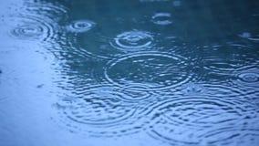 Baisses de pluie dans l'eau
