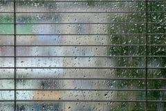 Baisses de pluie sur la glace Photos libres de droits