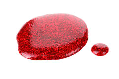 Baisses rouges de vernis à ongles Image libre de droits