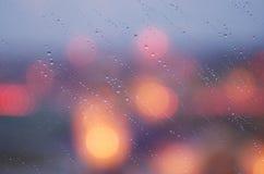 Baisses sur la fenêtre Photographie stock libre de droits