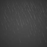 Baisses transparentes de pluie d'isolement sur le fond abstrait Illustration de goutte de pluie de tempête Effet pluvieux de bais illustration de vecteur