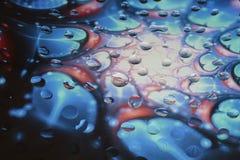 Baisses uniques de l'eau sur le verre Images libres de droits