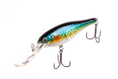 Bait for fishing - wobbler on white Stock Images