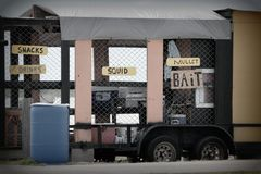Bait Stand Royalty Free Stock Photos