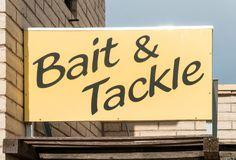 Bait and tackle shop stock image