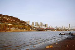 Lanzhou City. Baita Mountain, Yellow River Tieqiao, Lanzhou stock image